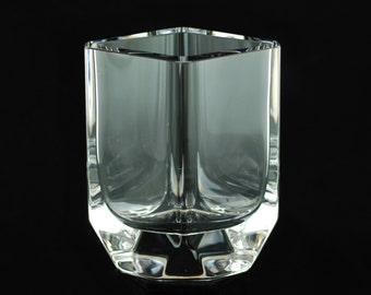 Vintage Sigurd Persson for Kosta Boda Modernist Crystal Vase