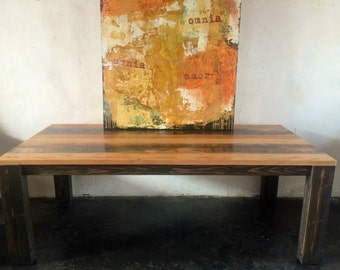 Beautiful Reclaimed Wood Dining Table   Made in DT Los Angeles