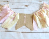 Pink Girl High Chair banner - girl pink photo prop - you are my sunshine birthday decor - ice cream party - princess photo prop - 1st banner