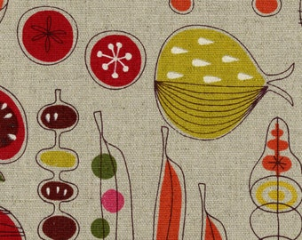Country Table - Vegetable Fruits Coral Yellow - OXFORD Cotton from Cosmo