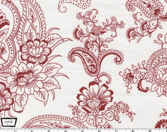 Prestine Paisley - Red from Michael Miller
