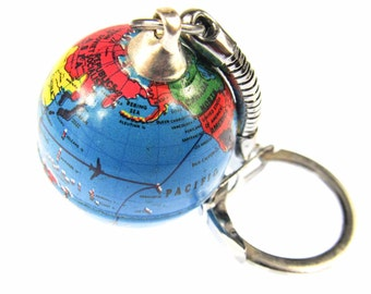 [BUNDLE] Globe keychains world travel globe Earth