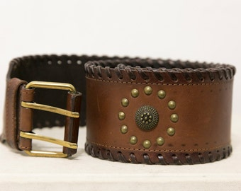 90's Hippie Waist Belt | Genuine Australian Leather