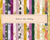 Woodland Autumn den darling Glitter Fall pattern paper  Floral Clipart Graphic Hand Painted  files Printed CU OK Stickers 10 inch 300 dpi