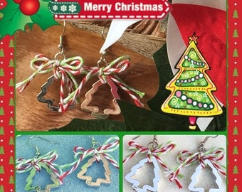 Christmas Tree Cookie Cutter Earrings