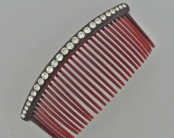 Goody Kant Slip Rhinestone Comb 1960's.