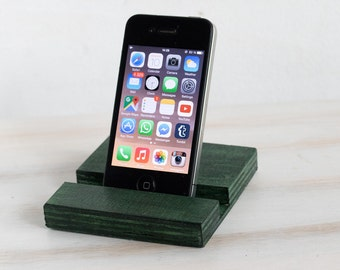 Green iPhone 6s docking Station Samsung Galaxy 7 Tab LG G5 G4 Motorola G2 Stand iPhone stand Wooden Stand BlackBerry iPad Lenovo HTC