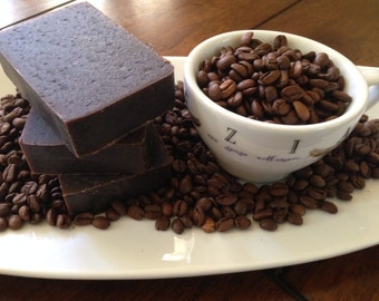 Turkish Coffee  Soap/ Handmade Exfoliating Soap/Cold Process Soap/Kitchen Soap
