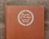 Vintage poetry book 1920s Poems of Today