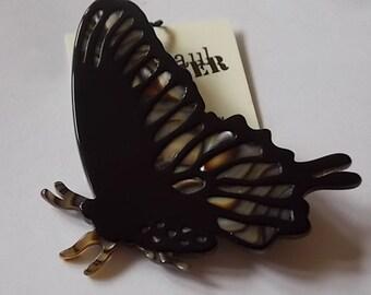 Vintage Jean Paul Gaultier Designer Butterfly Brooch Pin WOW