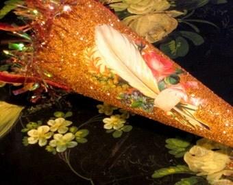 Ooak Christmas Cone Made By Decojumeau