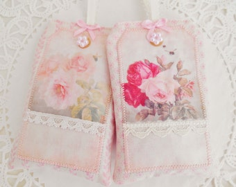 Set Of Two Shabby Chic Style Lavender Sachets