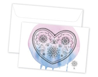 Decorate My Heart // Greeting Card