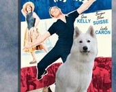 White Shepherd Vintage Movie Style Poster Canvas Print  NEW COLLECTION by Nobility Dogs