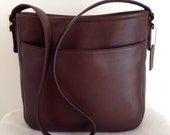 Vintage Coach Mahogany Leather Chelsea Hobo 6003 Made in United States