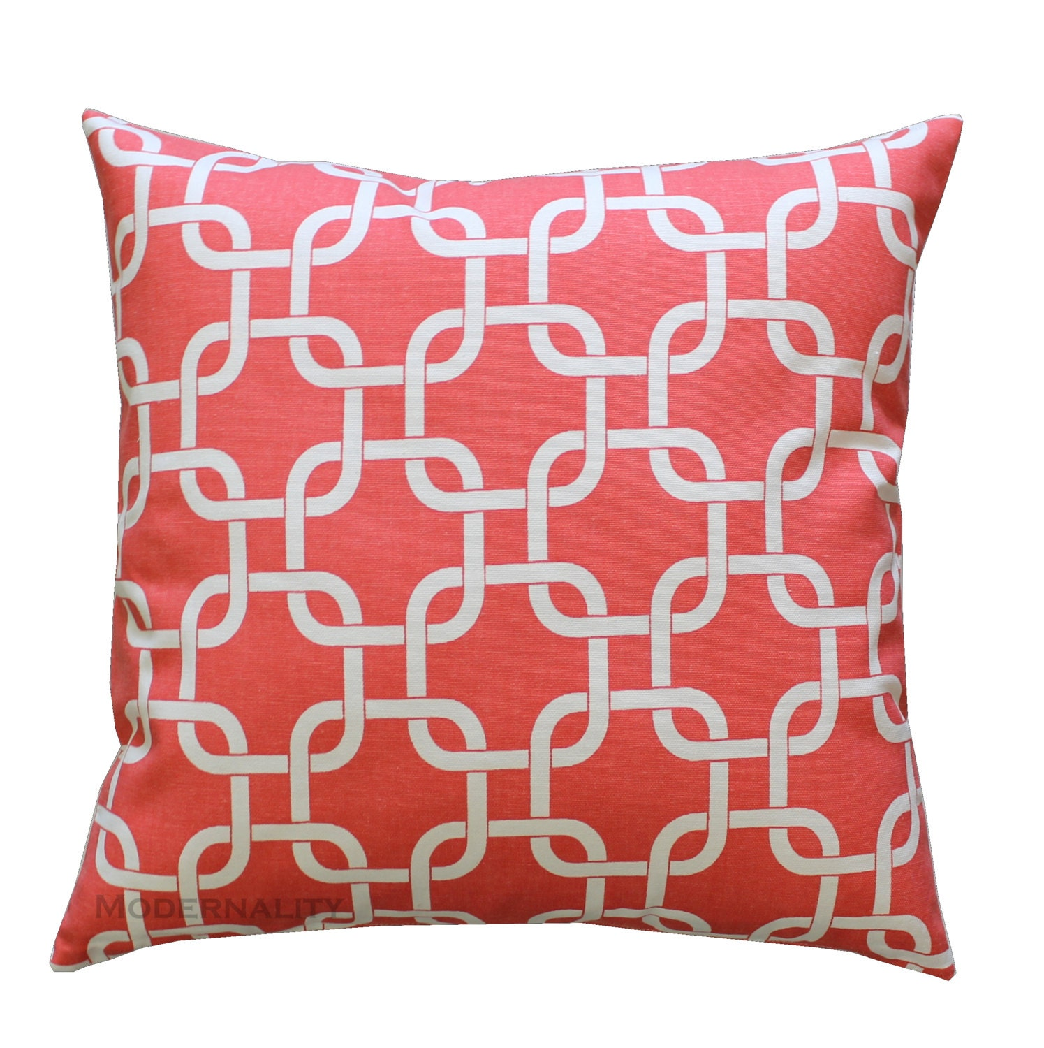 Coral Bed Throw Pillows : Coral Throw Pillow Gotcha Coral Pillow Cover Coral Bed