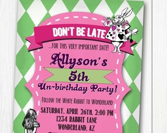 MAD TEA PARTY Printable Birthday Invitation - Personalized Girls Party Invite Alice in Wonderland inspired