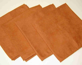 "Clearance Sale 30% off - Set of Four (4) CHERON CINNAMON NAPKINS - Large 18"" Square Dinner Napkins Marked #22033 - Originally 16.00"