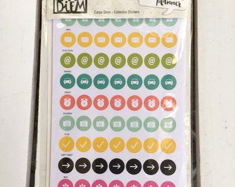 Carpe Diem Calendar Stickers (504 pcs) by Simple Stories, Snap product for A5/mini planners, for scrapbooking, card making, art journaling