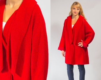 Vintage red coat midcentury MOD era