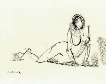 Gesture study 477 Original drawing  10.5 x 7.5 inches
