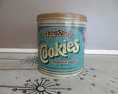 Tin Cookie Tin Kitchen Canister Rustic Canister Storage Canister Ballonoff Canister 1979 Rustic Tin Kitchen Tin Metal Canister Candy Tin