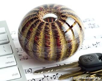 Striped Savannah Sea Urchin / Sand Dollar Handcrafted Paperweight