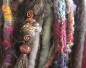 Large Dreadlock Bead Dread Wrap 8mm Bohemian Dreadlock Jewelry Dread Beads Copper Spiral Wire Wrap Cuff Crystal Festival Psy Boho Hair Pixie