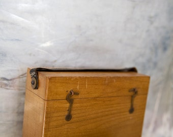 Vintage Wooden Box Display Storage Crate