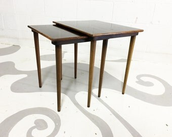 mid century modern rosewood tables nesting rosewood tables set of two in great condition