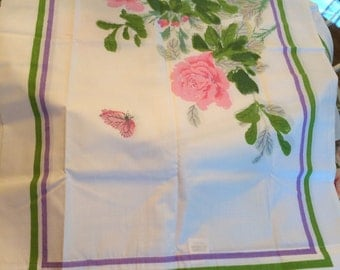 New pair of VINTAGE shabby chic pink cabbage rose St Mary pillowcases