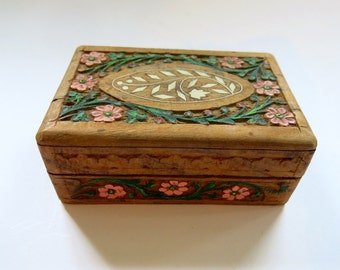 Vintage Carved Wood Box