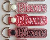 Plexus KeyChain, Snap Tab Glitter Vinyl or Canvas Key Fob