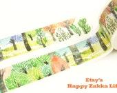 Colorful Forest - Japanese Washi Masking Tape - 11 Yards