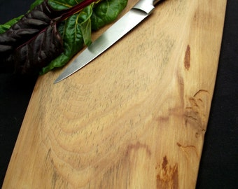Natural cutting board, Rustic Wood Cutting Board, OOAK, organic  Bigleaf Maple, petite and sturdy