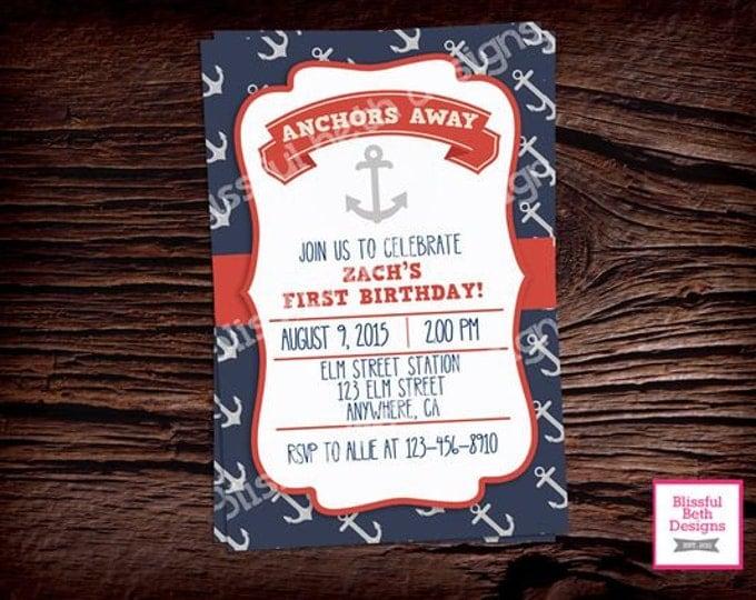 NAUTICAL FIRST BIRTHDAY,  Anchor Birthday, Nautical Birthday, Anchors Away, Birthday, First Birthday, Anchor First Birthday, Nautical Anchor
