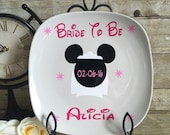 Minnie mouse bridal plate