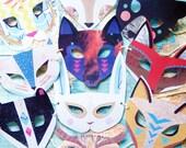 Mega Animal Paper Mask Set, 10 Woodland Forest Creatures, Birthday/Wedding Favors