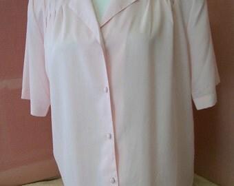 Pink Feminine Ladies Blouse by Worthington size 8