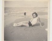 Vintage/ Antique beautiful Photo of a woman in a vintage bathing suit