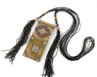 Traditional Tuareg Amulet Talisman Tcherot Necklace, Mali