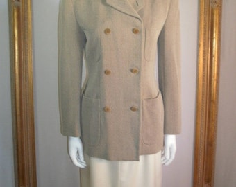30% OFF SUMMER SALE - - Vintage Giorgio Armani Beige/Brown Jacket - Size 10
