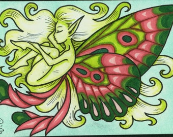 ACEO, Sleeping Faerie