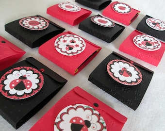 Ladybug Favors Summer Favors Birthday Favors Party Favor Boxes Birthday Favors Ladybug Boxes Candy Wrappers Candy Wraps Candy Bar Wraps