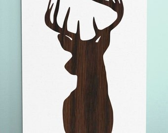 Wood Sign 12x18 Stag Head