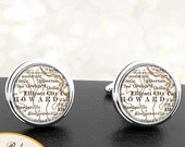 Cufflinks Ellicot City Maryland Handmade Cuff Links City State Maps MD Groomsmen Wedding Party Fathers Dads Men