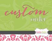 Custom Towel Order