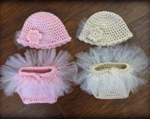 Newborn Baby Photo Prop - Crochet Diaper Cover Pattern - Hat Pattern - Soaker Pattern - Tutu - Ballet - Crochet Patterns by Deborah O'Leary