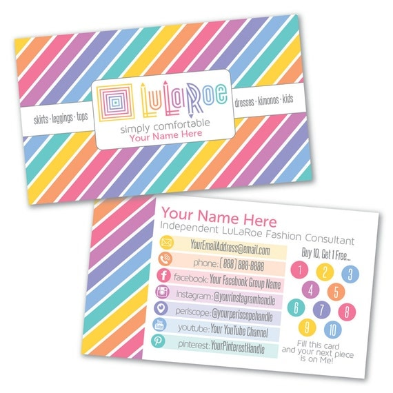 Lularoe custom business card design by lilstarletcouture for Etsy lularoe business cards