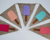 Colorful Popsicle Burlap Banner
